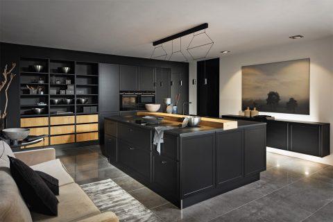 Moderne keuken edel zwart