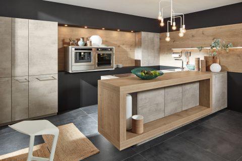 Moderne keuken met betonlook