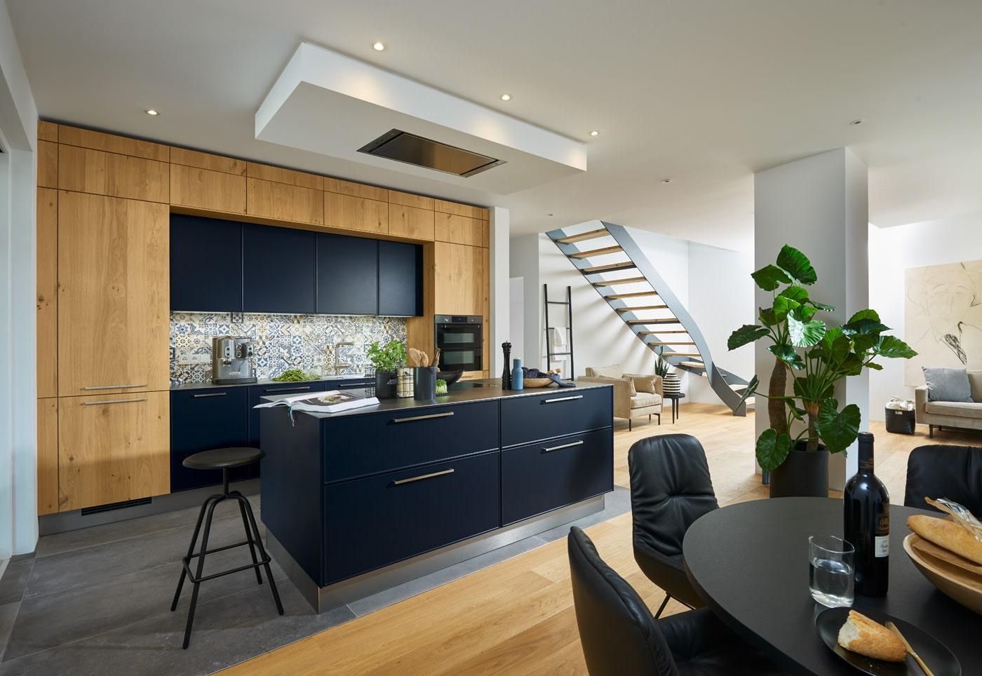 Moderne keuken Charisma Lack blauw Legno