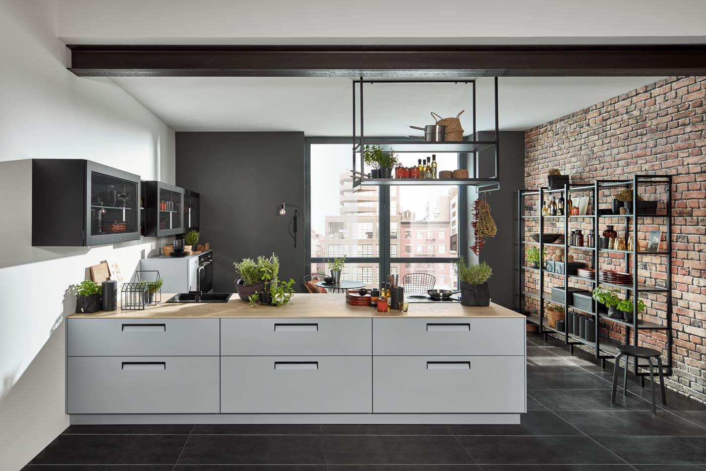 Moderne keuken met een loft-gevoel